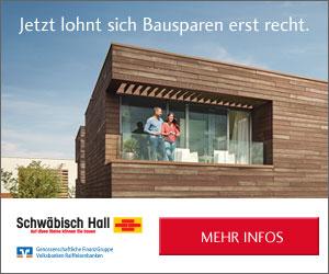 Jetzt günstigsten Bausparkredit aller Zeiten von Schwäbisch Hall sichern!